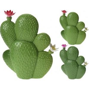Kaktus keramický s kvietkom 24341