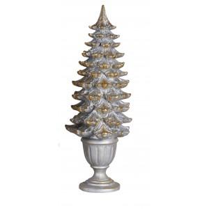 Vianočný stromček strieborno zlatý 41,50 cm 32382