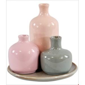 Váza 3ks s táckou - keramika 29550