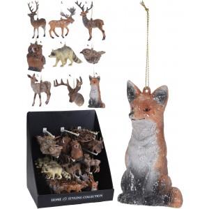 Vianočná ozdoba zvieratá 12cm 31690