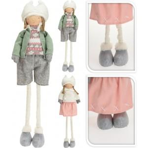 Dievča, chlapec - textil, teleskop 31986