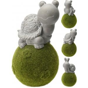Korytnačka, žaba, slimák na machovej lopte 38cm 26227