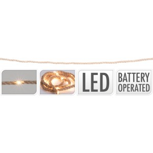 Osvetlenie 15 LED, špagát - dĺžka 1,5m 32049