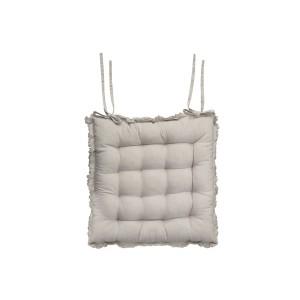 Béžový bavlnený prešívaný podsedák na stoličku 40x40 cm Chic Antique 33742