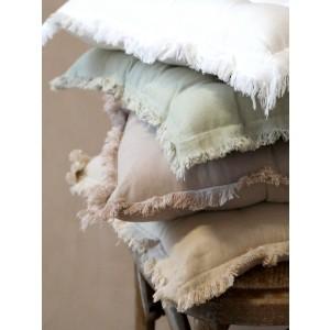 Biely bavlnený prešívaný podsedák na stoličku 40x40 cm Chic Antique 33740