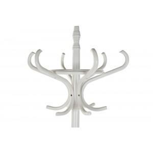 Biely stojan - vešiak na oblečenie z brezy 53x40x186 cm 32783