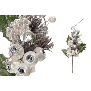 Konár vianočný perleťový 30cm 32354