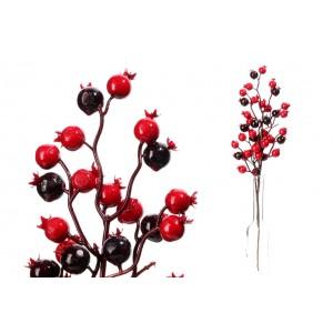 Konár - červené a bordó guličky 31896