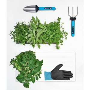 Darčeková sada záhradného náradia - lopatka, vidly a rukavice ERGO LINE 33704