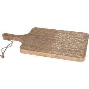 Doska na krájanie z mangového dreva s dekorom 20 x 38 cm 35070