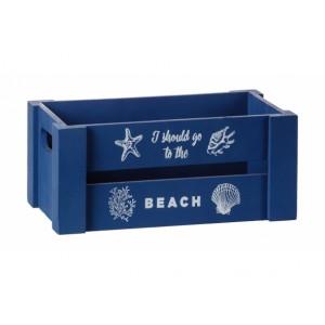 Drevená morská bednička modrá, alebo biela 25x15xH11 cm 33179