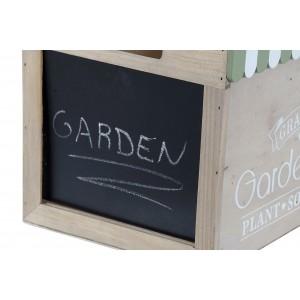 Drevená škatuľa s nápisom a čiernou tabuľou na písanie 30x21x20 cm 32725