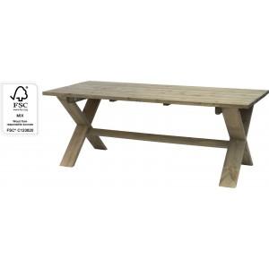Drevený piknikový stôl šedej farby o rozmeroch 190 x 87 x 72,5 cm 35136