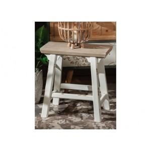 Drevený stolík bielo prírodný 45x29x46,5 cm 32891