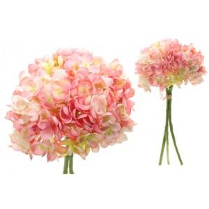 Hortenzia kytica ružová 35 cm 31481