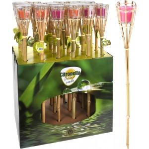 Fakľa z bambusu so sviečkou Citronella 34342