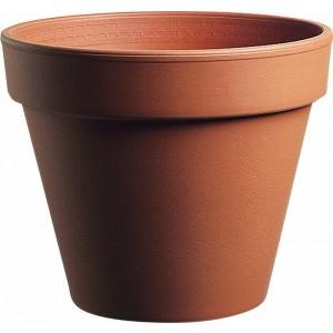 Hlinený kvetináč štandard v tehlovej farbe 23 cm 30820