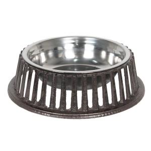 Hnedá kovová miska pre zvieratá vo vidieckom štýle Ø 28*8 cm Clayre & Eef 35009