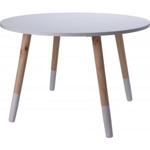 Stôl detský - drevený, biely 28991