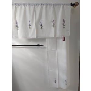Záclona levanduľa, bavlna 150x50cm 32312