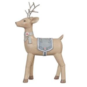 Jeleň dekorovaný z polyresinu 11x4x17 cm 12184