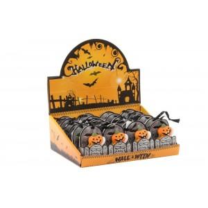 Keramické halloweenske mini postavičky v taštičke v šiestich variantoch 4 x 7 cm 35280