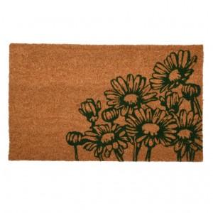 Kokosová rohožka kvety 75x45x1,7 cm Esschert design
