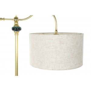 Kovová stojacia lampa v zlatej farbe s tienidlom 60x38x170 cm 32816