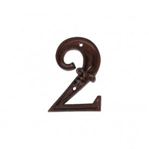 Kovové číslo 2 na dom 7,9x1,3x11,2 cm Esschert design