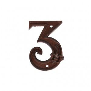 Kovové číslo 3 na dom 8,1x1,2x11,6 cm Esschert design