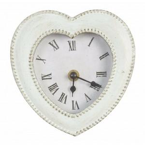 Kovové hodiny v tvare srdca Clayre eef 14x22 cm 12177
