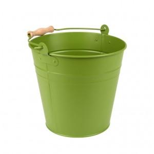 Kovové vedro zelené s rúčkou 4,9 L Esschert design