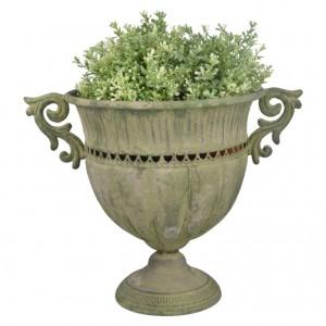 Kovový kvetináč zelená  patina 39,0x27,8x30,60 cm Esschert design