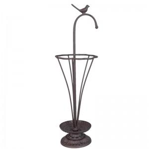 Kovový stojan s vtáčikom na dáždniky Clayre & Eef 34576