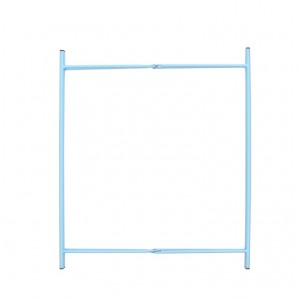 Kovový stolík modrý 46x46x52,2 cm Esschert design