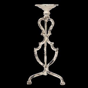 Kovový svietnik na trojnožke s béžovou obitou patinou Clayre & Eef 34550