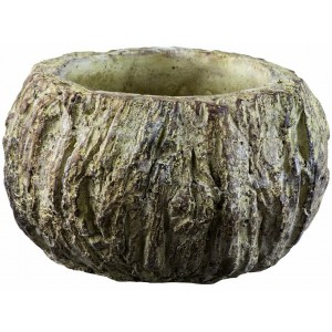 Kvetináč okrúhly z cementu s efektom púšte Sahara sivohnedý 23 cm 34508
