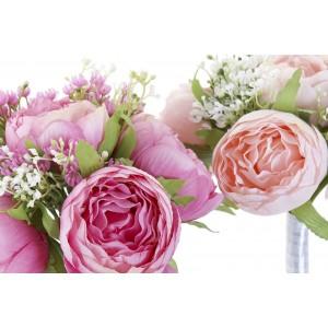 Kytica umelých pivónií v ružovej, alebo marhuľovej farbe 20x20x27 cm 32748