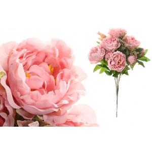 Kytica umelých ružových pivoniek s výškou 53 cm 35184