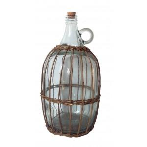 Fľaša s uškom + korok, v košíku 4,8L 31240