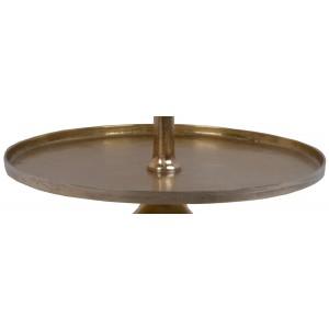 Luxusne vyzerajúci štvorposchodový kovový zlatý stojan ako etažér 137 cm 35518