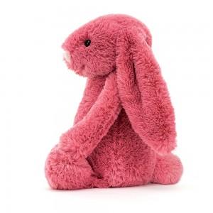 Malinový plyšový zajačik Jellycat Bashful Cerise Bunny 31 cm 35374