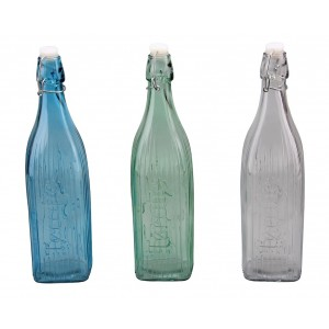 Fľaša sklo 1L s korkom 28325