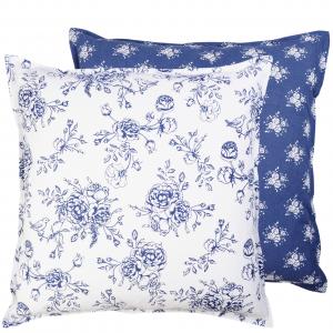 Vankúš - obliečka, modré ruže 50 x 50 cm 29265