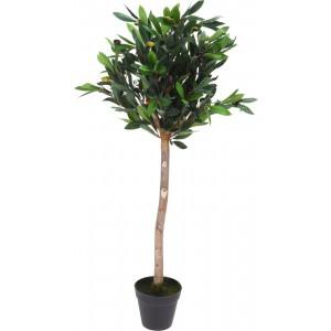 Moderný plastový zelený olivový strom v plastovom kvetináči 94 cm 35133