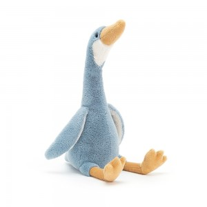 Modrobiela hebká plyšová kačka bežec Jellycat Daisy Runner Duck 33 cm 34885