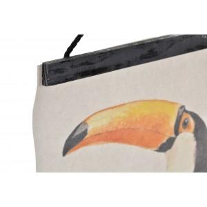 Obraz tropických vtákov na plátne 30x50 cm 32728