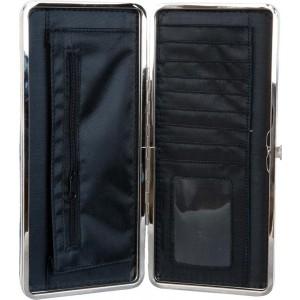 Peňaženka sivá veľká s motívom dievčatka v šatôčkach a pančuškách a vtáčika 25 x 11 cm Clayre & Eef 35449