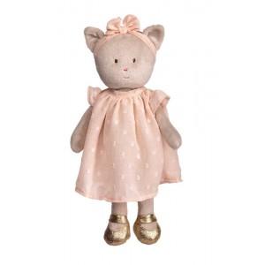 Plyšová mačička Karo v marhuľových šatách 25 cm Bukowski design 33695