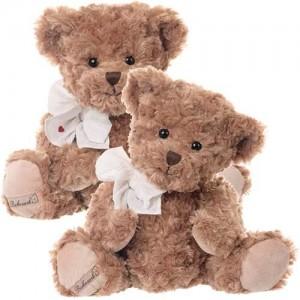 Plyšový medvedík Ludwig s mašľou okolo krku 35 cm Bukowski design 34642